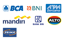 Pembayaran melalui transfer ATM dapat dilakukan melalui beberapa bank dibawah ini:
